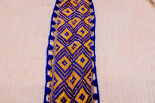 Traditional Embroidery Detail Of An African Ethiopian Dress Fabric.