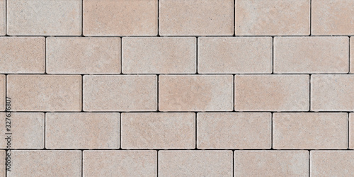 Seamless  textured stone wall brick texture abstract background sandstone pink n Canvas Print