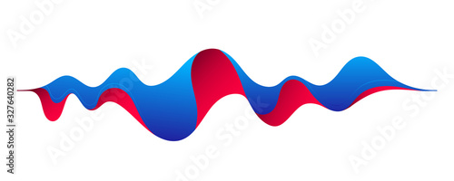 Creative vector illustration of motion sound wave, music audio equalizer, vibration pulse isolated on background Canvas Print