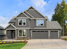 Front Exterior Of New Home On ...