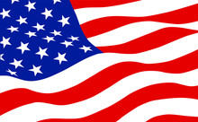 The American Flag Waving In Th...