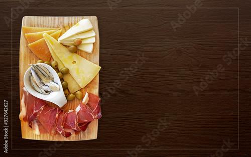 Fotografie, Obraz Croatian traditional food, Dalmatian plate