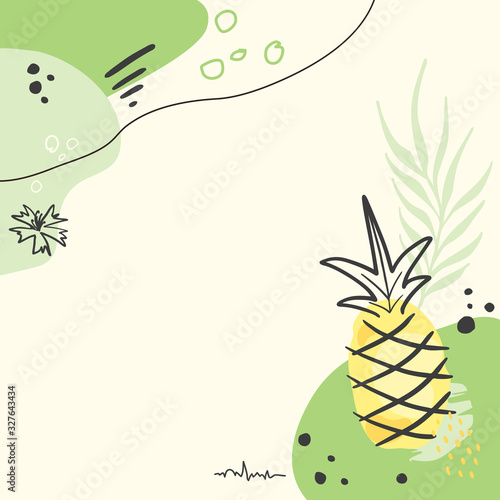 Modern abstract pineapple art vector background. - 327643434