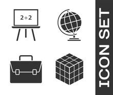 Set Rubik Cube, Chalkboard, Br...