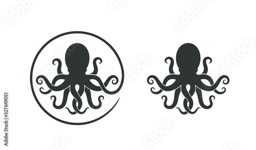 Fotografiet Octopus logo. Isolated octopus on white background