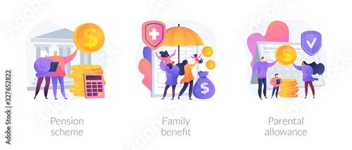 Social security payments metaphors Canvas Print