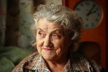 Elderly Woman Portrait Smile F...