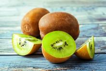 Ripe Kiwi Fruit With Slices