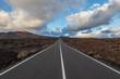 Driveway of Timanfaya National Park on island Lanzarote