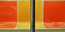Abstract New York City Subway Car Interior Seats Train Design Seating