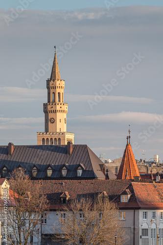 Fototapeta panorama Starego Miasta Opole obraz