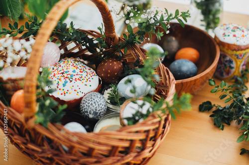 Leinwand Poster Traditional Easter basket
