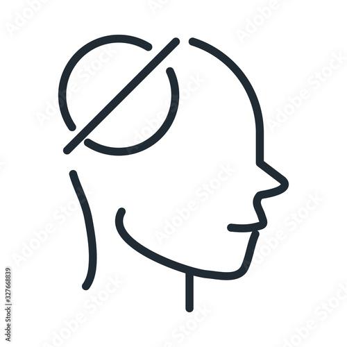alzheimers disease neurological brain empty memorie line style icon Wallpaper Mural