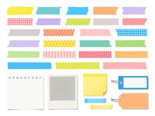 マスキングテープと紙のデザイン素材