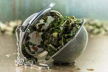 Used Tea Leaves Of White Mulbe...