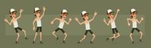 Cartoon Funny Cute Hipster Far...
