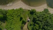 Top Down Aerial Pan Of Sandy B...