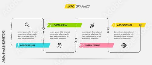 Fototapeta Vector infographic template obraz na płótnie