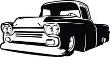 Silhouette Of A Classic Hotrod...