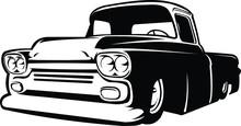 Silhouette Of A Classic Hotrod...