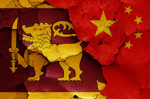 Flags Of Sri Lanka And China P...