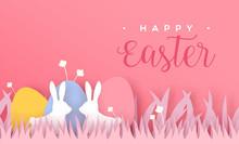 Happy Easter Paper Cut Card Ra...