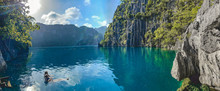 Barracuda Lake In Coron, Palaw...