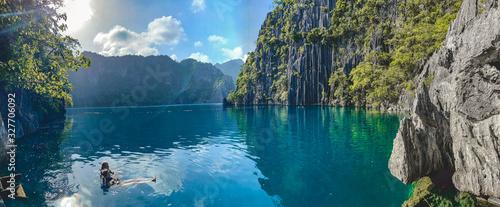 Barracuda lake in Coron, Palawan, Philippines