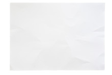 Empty Blank Paper Texture With Crease Pattern Surface, Image Isolated On White Background