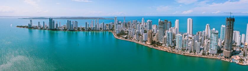 Aerial view of Cartagena Bocagrande