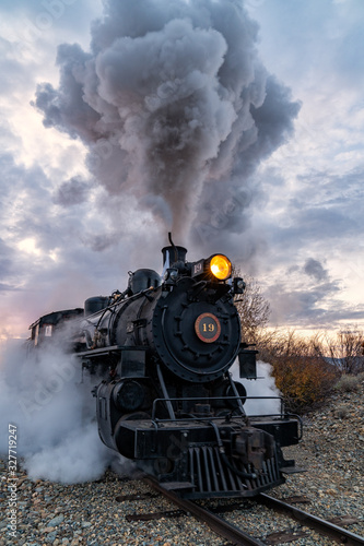 Fototapeta The Historic Sumpter Valley Railroad in Central Oregon obraz na płótnie