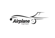Airplane Logo Flight Plane Sil...