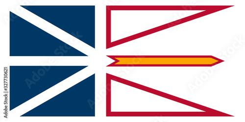 Fotografia The Province Of Canada Newfoundland And Labrador Flag