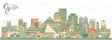 Giza Egypt City Skyline With C...