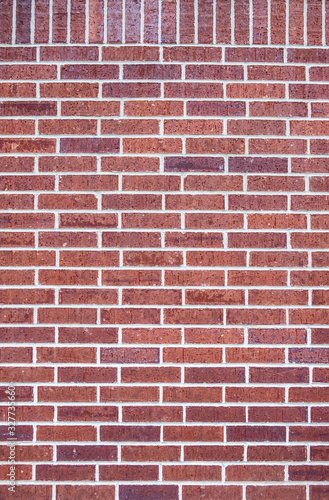 close-up red brick wall pattern background
