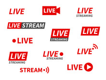 Live Streaming Icons. Broadcas...