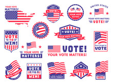Usa Voting Labels. American Pr...