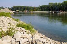 Riprap Embankment On The Drava...