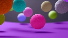 Balls With Interesting Texture Bounce On The Surface. The Interesting Background Is Looped. Look To My Profile To Find Another Similar Video.