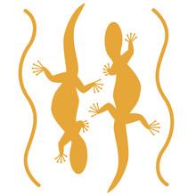 Lizard Set,vector Illustration...