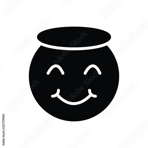 Canvastavla Black solid icon for innocent