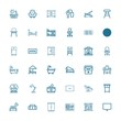 Editable 36 furniture icons for web and mobile