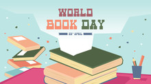 World Book Day Illustration Vector