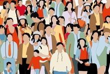 Crowd Of People Illustration. ...