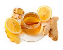 Healthy Ginger Tea With Lemon ...