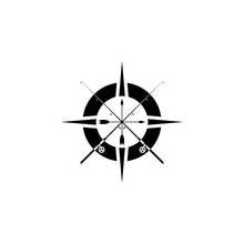Fishing Compass Icon, Logo Iso...