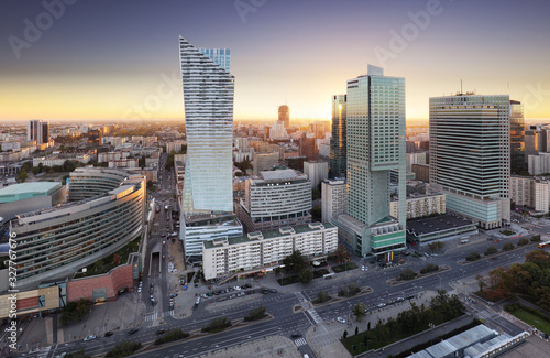 Fototapety, obrazy: Poland, Warsaw sunset