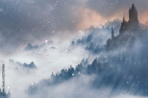 Obraz winter fantasy landscape - fototapety do salonu