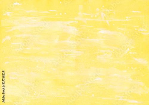 黄色と白の和紙みたいな背景 Canvas Print