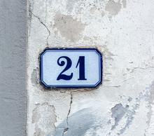 House Number Twenty One 21